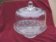 Princess House Fantasia 584 Cake Stand W Dome Converts To Punch Bowl