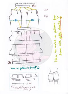 how to make puffy shorts - pattern tutorial by ~PizZaMonsTa on deviantART