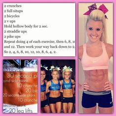 This is my workout inspiration! Cheer athletics (: x This is my workout inspiration! Cheer athletics (: x This is my workout inspiration! Cheer athletics (: x This is my workout inspiration! Cheer athletics (: x Cheer Athletics Abs, Cheer Abs, Cheer Tryouts, Cheer Diet, Cheer Coaches, Cheerleading Workouts, Gymnastics Workout, Gym Workouts, At Home Workouts