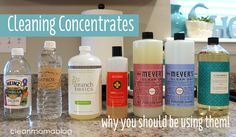 Cleaning Concentrates - Why You Should Be Using Them!  Clean Mama