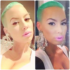 Amber rose hair and makeup yess (: