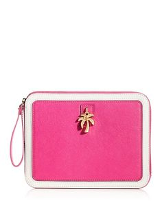 Need a new Ipad and a pretty case! Juicy Couture | Charm Wristlet iPad Zip Case
