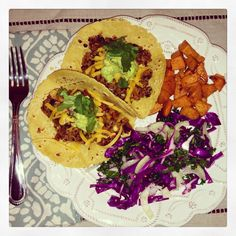 Ive been making this recipes for years! I've made all different versions of it, tossing in extra veggies and spices. It is a great go to meal you can make ahead of time, and also makes great leftovers. Here is a recipe for spicy quinoa tacos with black beans and veggies. { ingredients } 2…