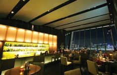 Encased within floor-to-ceiling glass panels, this bar on the top of IFC mall is perfect for enjoying Hong Kong's skyline  http://hk.dining.asiatatler.com/bars/g-bar