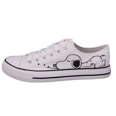 Womens Shoes Hand Painted Cartoons Canvas Casual Sneakers Ankle High Cut Lace Up Converse All Star, Converse Style, Converse Shoes, Painted Canvas Shoes, Painted Sneakers, Snoopy Shoes, Jouer Au Basket, Best Baby Shoes, Casual Sneakers