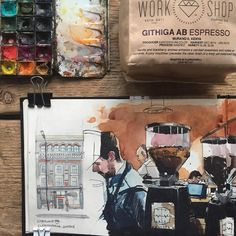 The first half of the drawings of @workshopcoffee (part 1)