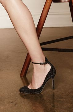 Love the ankle strap...Valentino evening shoes
