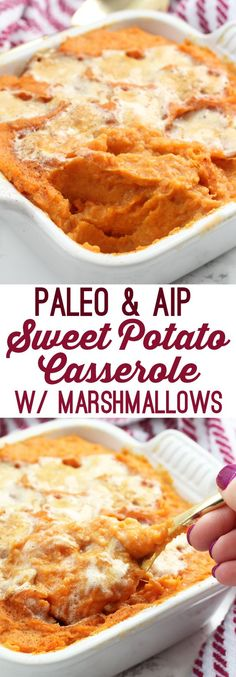 Sweet Potato Casserole with Marshmallows (Paleo & AIP)