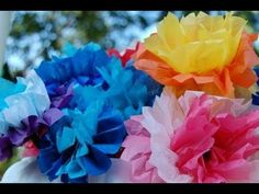 A quick tutorial on how to make tissue paper flowers.