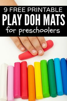 Play Doh Mats! This is such a great idea!  Saving this for next time around!