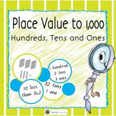 6 place value games that require players to identify number names; add 1 more, 10 more or 100 more to a given number; identify the highest and lowest value of numbers; identify the amount of hundreds, tens and ones in a number; understand less than or greater than; compare numbers and count base ten blocks