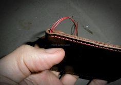 Finir une couture en évitant l surpiqûre ou comment finir une couture de façon invisible avec un noeud caché