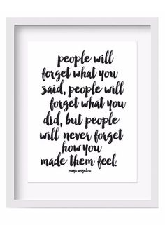 Maya Angelou Quote Art Print Inspirational Wall Art - Famous quote by Maya Angelou. - Museum-quality print made on premium thick, matte stock paper - Shown in 11x14 - Frame not included - By Lettered