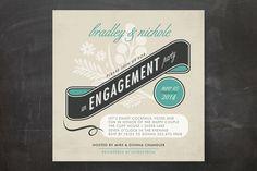 Classic Vintage Engagement Party Invitations