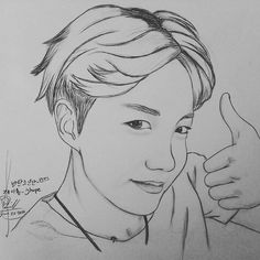 제이홉 트위터 업데이트 160626 Jhope twt update after kcon NY #draw #art #hair #eyes…