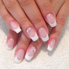 NagelDesign Elegant ( Billedresultat for negle . Sexy Nail Art, Sexy Nails, Classy Nails, Hot Nails, Cool Nail Art, Wedding Nails For Bride, Wedding Nails Design, Bridal Nails, French Nails