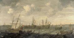 The Dutch Herring Fleet under Sail, Cornelis Beelt, 1660 - 1701