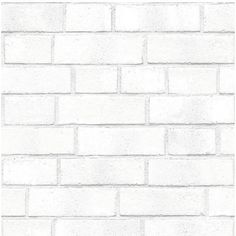 Tempaper Brick Self-Adhesive Vinyl Wallpaper ($130) ❤ liked on Polyvore featuring home, home decor, wallpaper, backgrounds, white, pattern wallpaper, removing vinyl wallpaper, tempaper, self adhesive wallpaper and white wallpaper