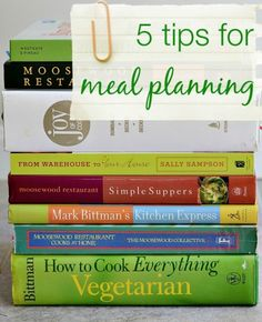 5 tips for meal planning success