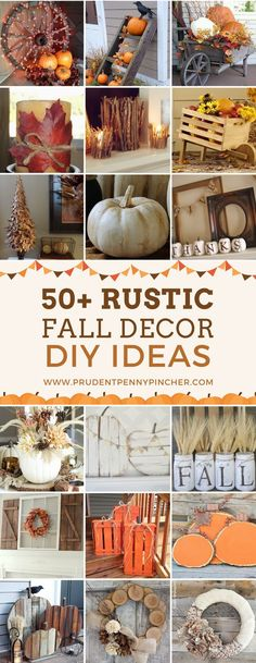 50 Cheap and Easy DIY Fall Wreaths These rustic fall decor ideas will give your home a cozy and inviting makeover. There are DIY ideas for indoor and outdoor decorations. Rustic Fall Decor, Fall Home Decor, Autumn Home, Fal Decor, Rustic Mantel, Diy Fall Wreath, Fall Diy, Fall Wreaths, Wreath Ideas