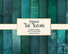 Distressed Teal Textures by Digital Curio on Commercial, Distressed Texture, Color Turquesa, Digital Scrapbook Paper, Digital Papers, Party Banners, Pixel, Paper Background, Teal Background