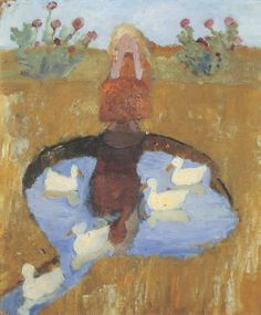 "Paula Modersohn-Becker ""Girl at the duck pond"""
