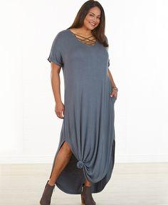 Xl Fashion, Women's Fashion Dresses, Fashion Women, Plus Size Dress Outfits, Dress Skirt, Shirt Dress, Cold Shoulder Dress, Stylish, Heather Gray