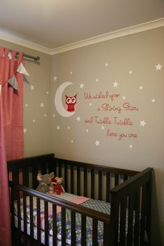 Decal above crib