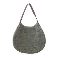 hardtofind. | Deep grey wool knit bag - Wood Folk