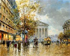 Antoine Blanchard (1910 - 1988) Rue Royale, Madeleine