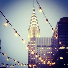 Bright lights, big city: the Chrysler Building in New York