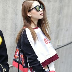 realstreet 김진경 2014 F/W Seoul Fashion Week #streetfashion #seoulfashionweek…