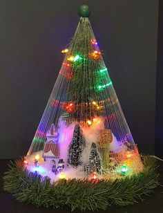 """Details about """"Christmas Tree Scene"""" – Unique Christmas Decor Item - Christmas Deesserts Unusual Christmas Trees, Best Christmas Lights, Alternative Christmas Tree, Outdoor Christmas, Christmas Crafts, Vintage Christmas, Christmas Ideas, Christmas Window Stickers, Christmas Window Decorations"""