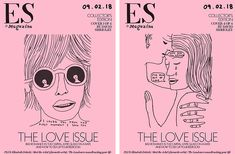 """Valentine's Day is coming up and, to mark the occasion, David Shrigley has created four exclusive, pink covers for _Evening Standard Magazine_. The drawings represent modern love in all its manifestations; love at first sight, the insecurities that may follow and break-up tears are visualised by the artist on the front cover of the weekly magazine. It looks like David Shrigley has had a busy month. Only a couple of weeks ago, it was """"announced"""":https://www.itsnicethat.com&..."""