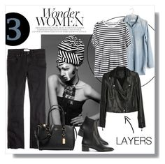 """Layers"" by ldtrollinger ❤ liked on Polyvore featuring Madewell, T By Alexander Wang, Paige Denim, Acne Studios and Coach"