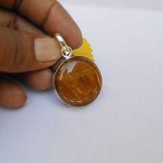 Sterling silvr tiger eye gemstone pendant by FineSilverStudio