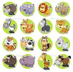 Vector illustration of Animals set Cartoon EPS