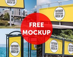FREE Outdoor Advertising Mock Up