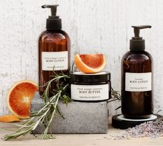 Napa Valley Bath Products: Rich in nutrients, this lightweight lotion is hand-blended to soothe, rehydrate, and refresh the body. A base of aloe vera leaf juice has remarkable healing properties for the skin, effectively renewing its vitality with a treatment of essential oils, amino acids, vitamins, and minerals. The uplifting fragrance of therapuetic citrus essential oils assists the lymphatic system in detoxifying the skin, while supporting collagen formation on dry or mature skin.