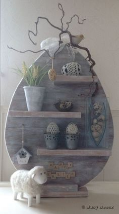 Wood Egg Shelf