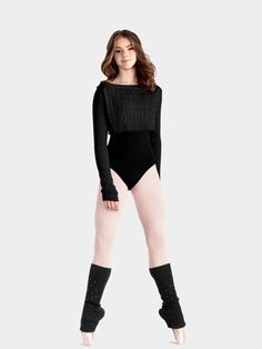 for ballet : love the sweater & sparkly legwarmers