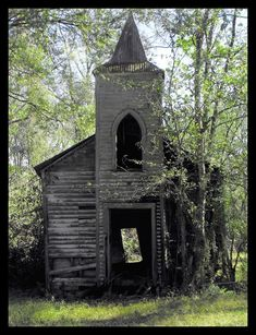 old church located in Chackbay, Louisiana which is near Vacherie, Louisiana; it is no longer standing.