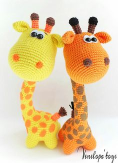 Ravelry: Funny Giraffe pattern by Svetlana Venelopa'TOYS Crochet Giraffe Pattern, Crochet Animal Patterns, Stuffed Animal Patterns, Crochet Animals, Amigurumi Patterns, Funny Giraffe, Cute Giraffe, Cute Crochet, Crochet Dolls