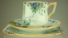 Antique Bell China England Trio Blossom Pattern 2589 C1930'S SS49   eBay