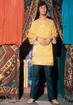 Caftan fashion from Hung On You men's boutique, London, 1960s