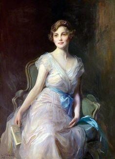 Portrait of Miss Leicester Warren (1929). Philip Alexius De Laszlo French, 1869-1937). Oil on canvas. Tabley House