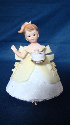 Vintage Napco Ware Birthday Girl With Cake Figurine Planter #C6434 by ThisNThatCorner on Etsy https://www.etsy.com/listing/163504491/vintage-napco-ware-birthday-girl-with