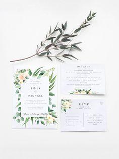 Wedding Invitation Set Template Southwestern Wedding Printable