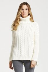 Coco Cable-Knit Roll Neck Jumper - Front