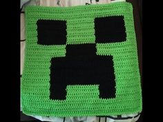 Minecraft crochet pillow top X 16 inches Minecraft ®/TM & © Mojang / Notch - This item is NOT associated or endorsed by Minecraft or Mojang in. Crochet Pillow Pattern, Crochet Cushions, Knit Pillow, Quilted Pillow, Crochet Motif, Minecraft Crochet Patterns, Minecraft Pattern, Crochet Stitches Patterns, Knitting Patterns